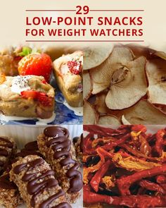29-Low Point Snacks for Weight Watchers. Make ahead and keep these on hand to never stray from your eating plan!! #weightwatchers #lowcalories