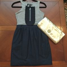 Super cute grey and navy dress In perfect condition Dresses