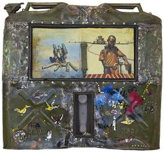 Willie Bester.  A major part of all Bester's works to date are the found objects he gathers from townships near his house and includes in his collages. The discarded materials are rich in symbolic meaning, and Bester creates an original iconography from the most varied and unlikely sources. He uses a motley array of objects such as machine parts, old sacking, sticks, various tin cans, sheep bones and wire netting.