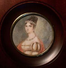 PORTRAIT MINIATURE de  Pauline Bonaparte