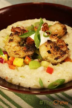 Serve up this easy-to-make Jerk Shrimp with Nassau Grits recipe for your family tonight!
