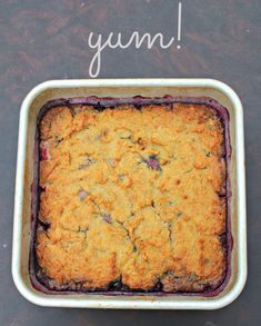 Grain Free, Dairy Free Berry Cobbler - you can use any fresh or frozen fruit! www.primallyinspired.com