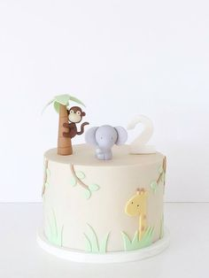 Baby shower food for boy pasta party ideas 54 ideas for 2019 Jungle Theme Cakes, Safari Cakes, Jungle Party, Tortas Baby Shower Niña, Baby Shower Cakes, Baby Boy Birthday Cake, First Birthday Cakes, Deco Baby Shower, Fondant Baby