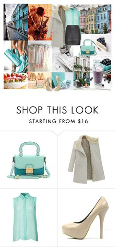 """""""Untitled #155"""" by stelastela ❤ liked on Polyvore featuring Tiffany & Co., Fresco Towels, OLO, Versace, Miu Miu, VILA and T By Alexander Wang"""