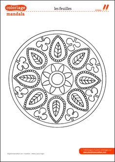 Coloriage Mandala : Les feuilles