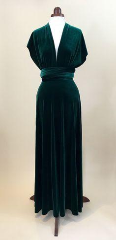 Green velvet dress infinity dress bridesmaid dress prom