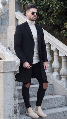 20 more mens winter outfits street style boots & herren winter outfits streetstyle stiefel mens winter outfits street style boots & Coats winter outfits men Chelsea Boots Outfit, Winter Outfits Men, Stylish Mens Outfits, Outfit Winter, Simple Outfits, Fall Outfits, Men's Outfits, Summer Outfit, Fashion Outfits