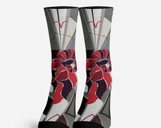 Foxy Socks Funky footwear fantastic coffee mugs. by foxandfogo Owl Socks, Custom Socks, Crazy Socks, Funny Socks, Unicorn Gifts, Colorful Socks, Astrology Zodiac, Country Girls, My Outfit