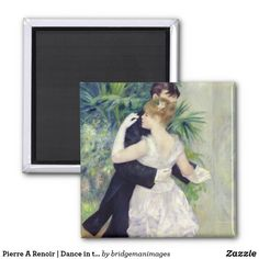 Pierre A Renoir | Dance in the City Magnet Paper Cover, Renoir, Image Collection, Paris France, Keep It Cleaner, Oil On Canvas, Magnets, Number, Dance