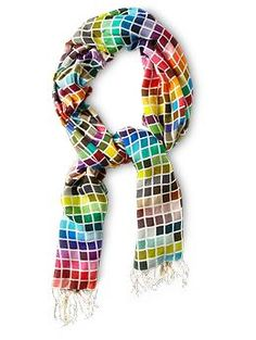 The Pantone scarf - now you can't say you don't have anything to match THIS  scarf!