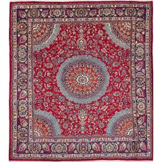 eCarpetGallery Persian Red Wool Hand-knotted Vintage Rug