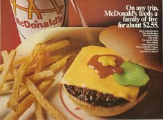 Image result for retro mcdonalds food