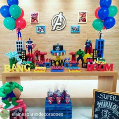 Spiderman birthday party decorations how to make 53 Ideas Superhero Birthday Invitations, Superhero Birthday Party, 4th Birthday Parties, Superhero Party Decorations, Birthday Party Decorations, Avengers Birthday, 1, Baby, Avengers Birthday Parties