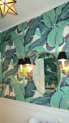 Rosa Beltran Design: MARTINIQUE BANANA LEAF WALLPAPER