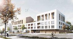 Architecture Résidentielle, Architecture Visualization, Architecture Diagrams, Architecture Portfolio, Condominium Architecture, Porte Cochere, Student House, Hospital Design, Social Housing