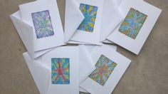 Colorful Starfish Note Cards by lynndylandesigns on Etsy, $10.00