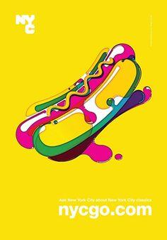 hot dog _ colorful! loving it! still kinda gross tho #design #graphic #grafik #illustration #food