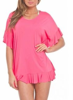 0b7ddcd32f Coco Rave Sun Beam Pink Swimsuit Poncho Cover Up M/L Medium Large NWT NEW