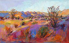Borrego Springs California Impressionism Original Oil Painting Erin Hanson 48x30