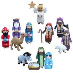 """""""Away in a manger no crib for a bed, the little Lord Jesus lay down his sweet…"""" These adorable characters are a perfect size for young children to play with and enjoy, and learn about the greatest story ever told. The figures also make a lovely festive decoration, which can be displayed and enjoyed year after year.This collection can be made cheaply out of oddments of double knitting yarn. The knitting pattern has clear row by row instructions and lots of photographs to help you along the…"""