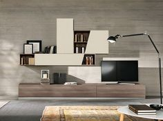 Modern Wall Unit Zen by SPAR, Italy - $2,065.00