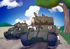 Girls und Panzer: Saunders M4 Sherman