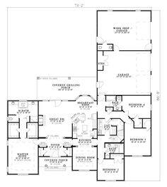 images about house plans on Pinterest   House plans    First Floor Plan of European Traditional House Plan LOVE GARAGE