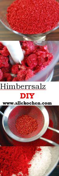 Himmbeer-Salz DIY Tolle Geschenksidee ein knallig rotes Himbeersalz selbst zu machen.