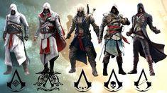 Altiar ibn lahad, Ezio auditore de firenze, Connor Kenway, Edward Kenway, and Arno Dorian