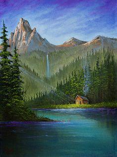Bob ross painting