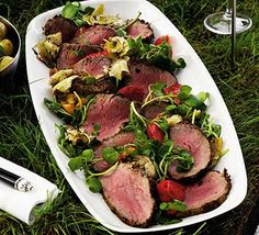 Mustard crusted fillet of beef with deli salad: Perfect for a posh picnic