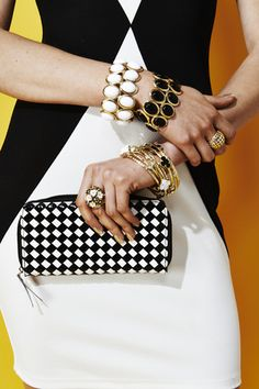 Fabulous black and ivory clutch #CCStyle