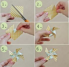 Just on the off-chance i decide i want pinwheels: pinwheel tutorial Pinwheel Tutorial, Diy Pinwheel, Diy Tutorial, Diy Paper, Paper Crafts, Diy Crafts, Papier Diy, Diy Bouquet, Candy Cards