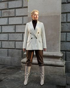 Leather Trousers, My Outfit, Claire, Jumper, Cold, How To Wear, Jackets, Outfits, Instagram