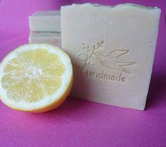 Natural Handmade Buffalo Milk Soap Bar with lemon and citronella and Kaolin clay