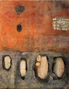 Paint My Skin III (by Gwendolyn Plunkett)  Encaustic and oil bar