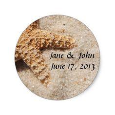 Beach Wedding Starfish Envelope Seals #wedding #craft #supplies