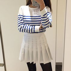 fall casual Pleated Skirts, Casual Fall, Blouse, Long Sleeve, Sleeves, Tops, Women, Fashion, Moda