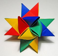Home made paper stars. It can be made in different sizes from the ratio 1:30. Pictures on this site describes the proces step by step.