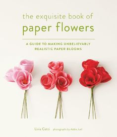 The Exquisite Book of Paper Flowers: A Guide to Making Unbelievably Realistic Paper Blooms by Livia Cetti.