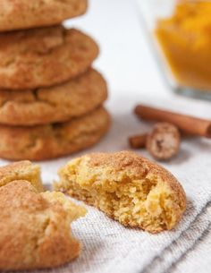 Recipe: Pumpkin Snickerdoodle Cookies — Dessert Recipes from The Kitchn try substituting ww pastry flour Pumpkin Snickerdoodle Cookie Recipe, Pumpkin Snickerdoodles, Pumpkin Puree Recipes, Pureed Food Recipes, Biscotti, Martha Stewart, All You Need Is, Cookie Recipes, Dessert Recipes