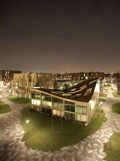 Pavement and house shape <3 Funen Blok; Verdana / NL Architects Location: Funenpark, 1018 Amsterdam, The Netherlands
