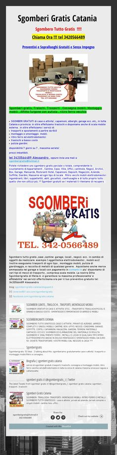#Sgomberi  Gratis Catania Sgombero Tutto Gratis !!!!Chiama Ora !!!tel 3420566489 PreventivieSopralluoghiGratuitie Senza Impegno