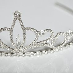 Tiara, simple rhinestone wedding headpiece