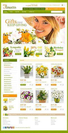 Flower Bouquet OpenCart Template