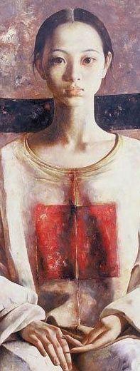 A beautiful lady, by chinese painting Lu-jianjun