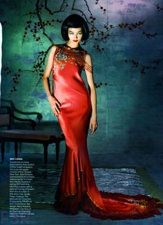 DIOR Spring 1997 Haute Couture | Fei Fei Sun by Steven Meisel for Vogue US May 2015  [Couture]