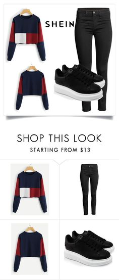"""""""cut and sew hoodie"""" by belma-bella ❤ liked on Polyvore featuring Alexander McQueen"""