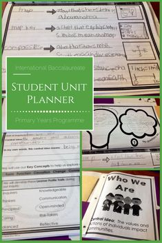 Organize your PYP students with this IB unit planner! This planner includes everything your students will need to organize and reflect on your PYP units of inquiry. #ib #pyp #unitofinquiry