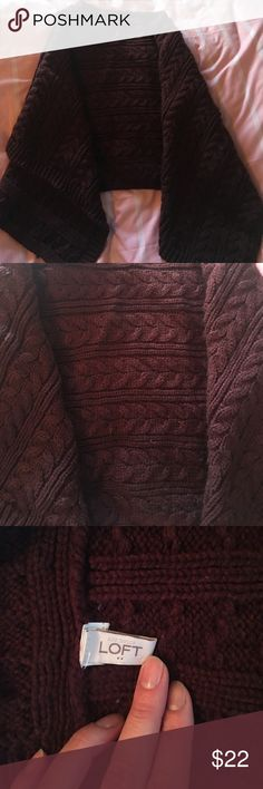 THE LOFT CABEL KNIT PONCHO THE LOFT CABEL KNIT PONCHO Burgundy/Maroon used once THE LOFT Sweaters Shrugs & Ponchos